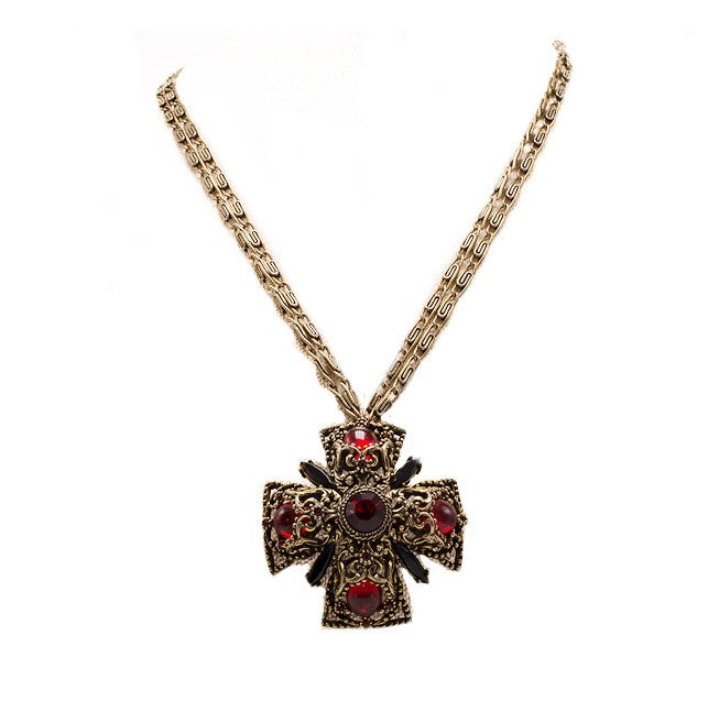 Medieval Maltese Cross Necklace