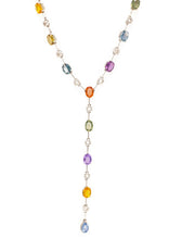 Load image into Gallery viewer, Fancy Sapphire Lariat Necklace