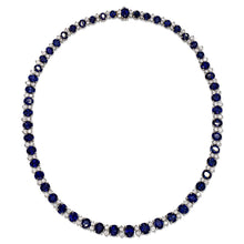 Load image into Gallery viewer, Sapphire and Diamond Necklace
