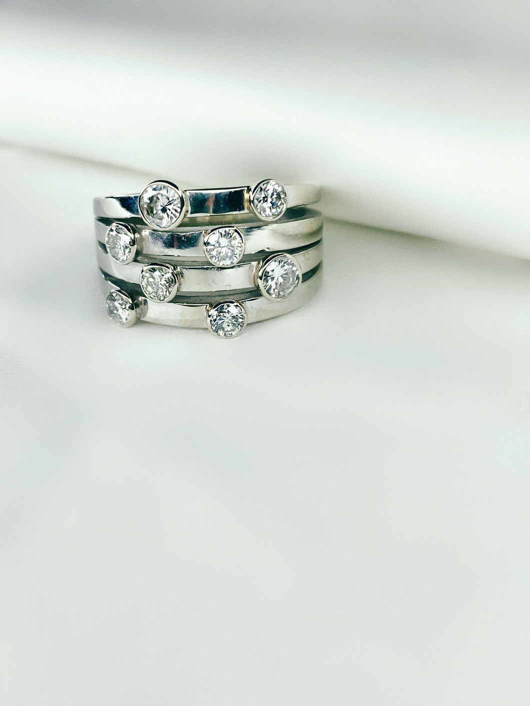 Sleek Bezel White Gold Ring