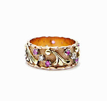 Load image into Gallery viewer, Ornate Ruby Wedding Band