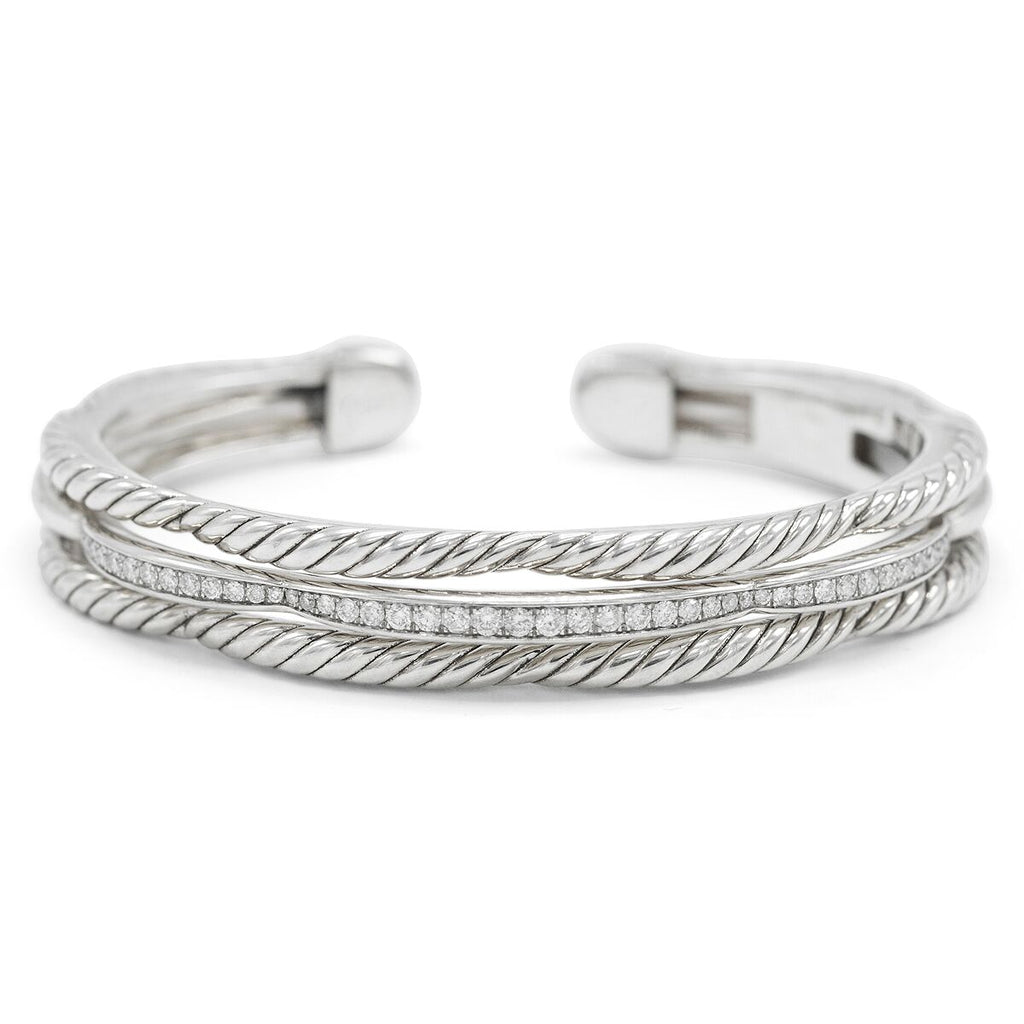David Yurman Tides Three-Row Diamond Pave Bracelet