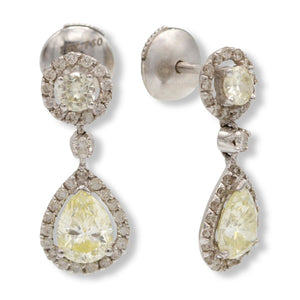 Diamond Drop Pear Shaped Earrings