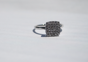 Diamond Block Ring