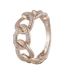 Large Cuban Link Diamond Ring