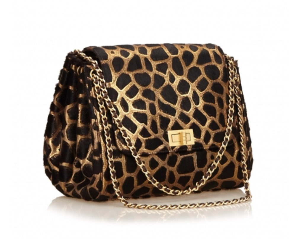 Vintage Animal Print Chanel Bag