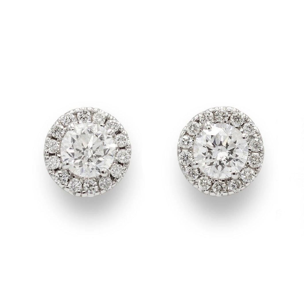 Halo Diamond Earrings