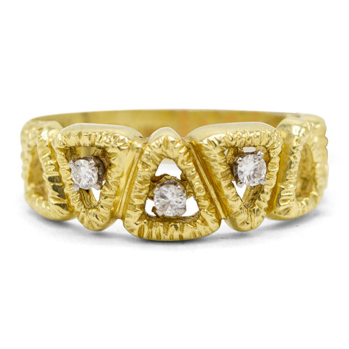Triangle Motif Diamond Ring