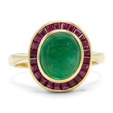 Load image into Gallery viewer, Colombian Emerald Ring in 18K Yellow Gold