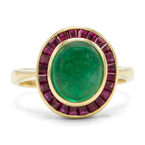 Colombian Emerald Ring in 18K Yellow Gold