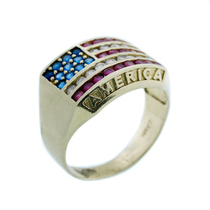 Men's Patriot Flag Ring