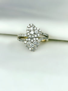 Lovely Diamond Heart Ring