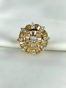 Shield Cluster Diamond Ring