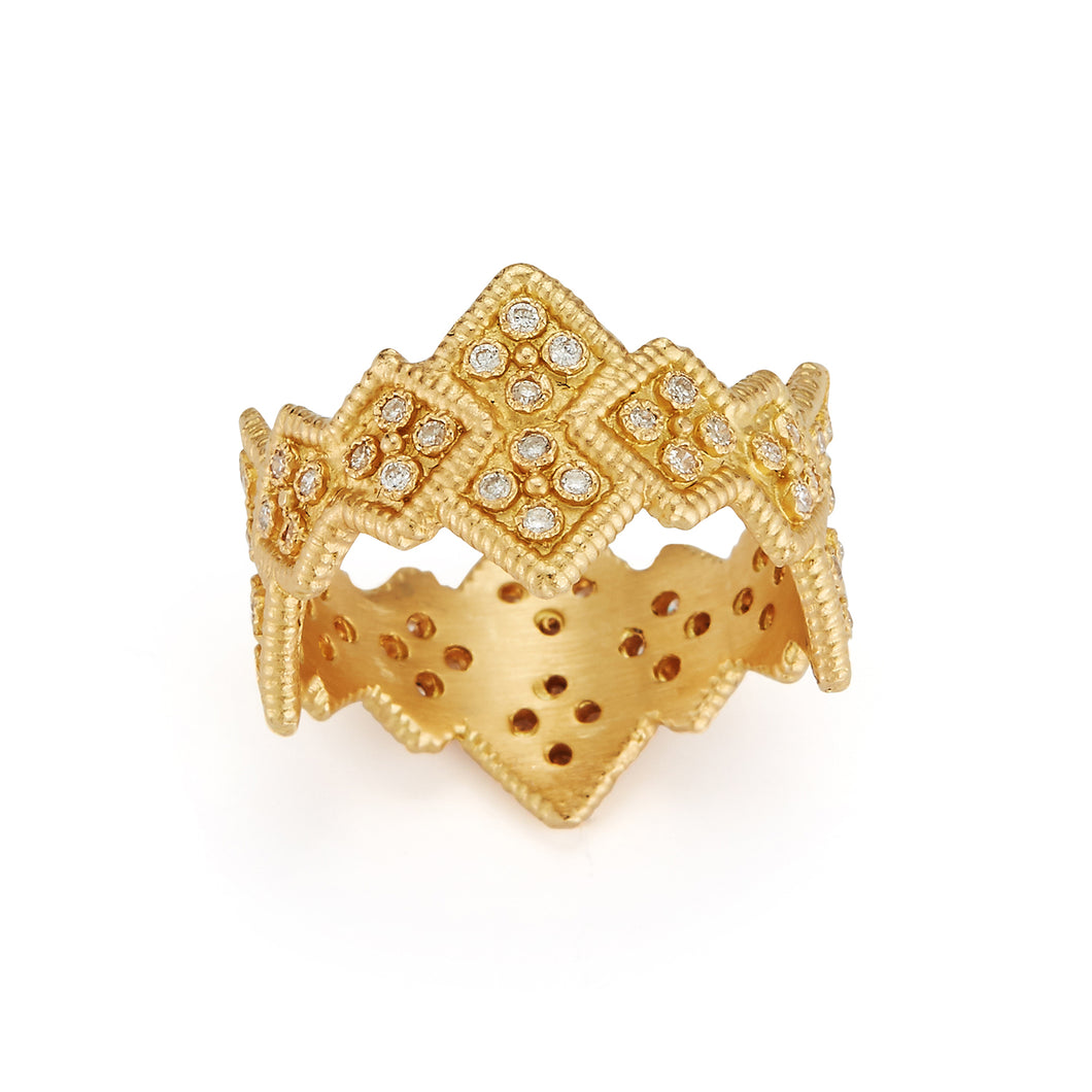 Regal Shield Shaped Ring