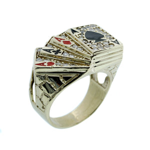 Men's Aces Up Ring