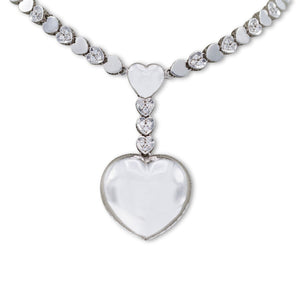 White Gold Heart Motif Necklace