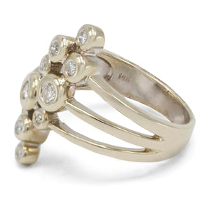Bubble Diamond Ring in 14K White Gold