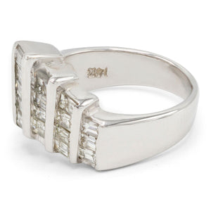 Diamond Step Motif Ring