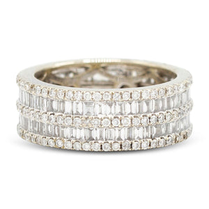 Diamond Row Eternity Band