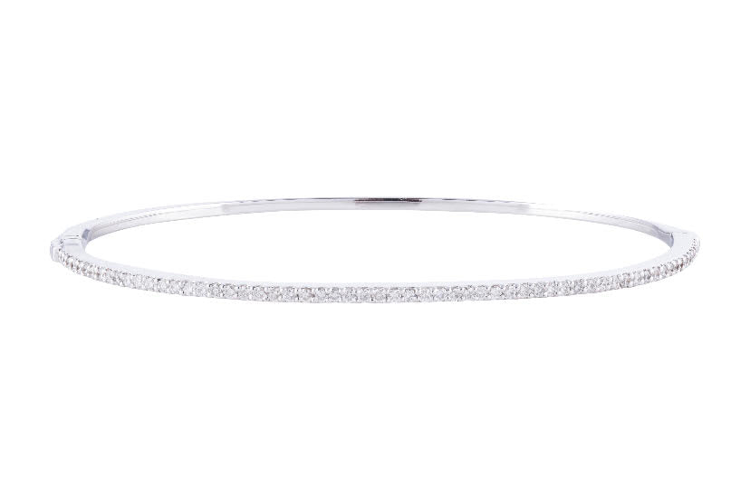 Thin 18K Diamond Bracelet