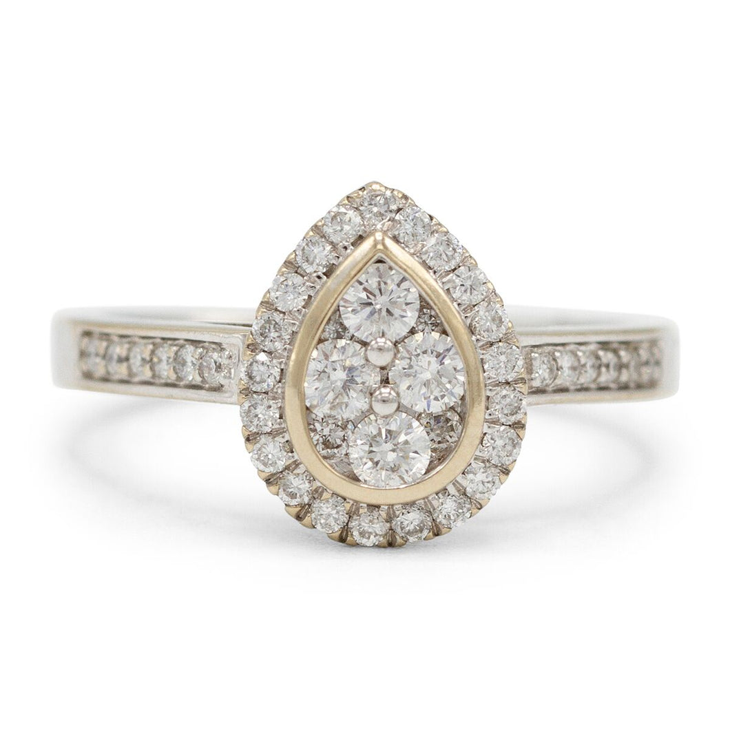 Pear Cluster Halo Ring