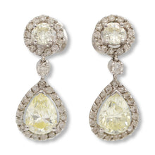 Load image into Gallery viewer, Diamond Drop Pear Shaped Earrings