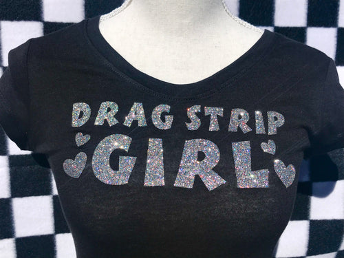 DRAG STRIP GIRL Short Sleeve T-Shirt - BLACK