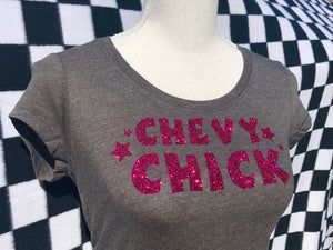 CHEVY CHICK Short Sleeve T-Shirt GREY