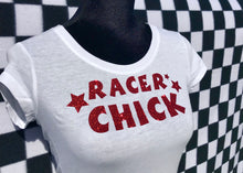 RACER CHICK Short Sleeve T-Shirt WHITE
