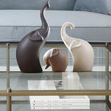 Ceramic Nordic Style Elephant Figurines