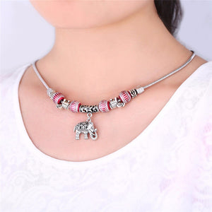 Elephant  Silver  Necklace for Women