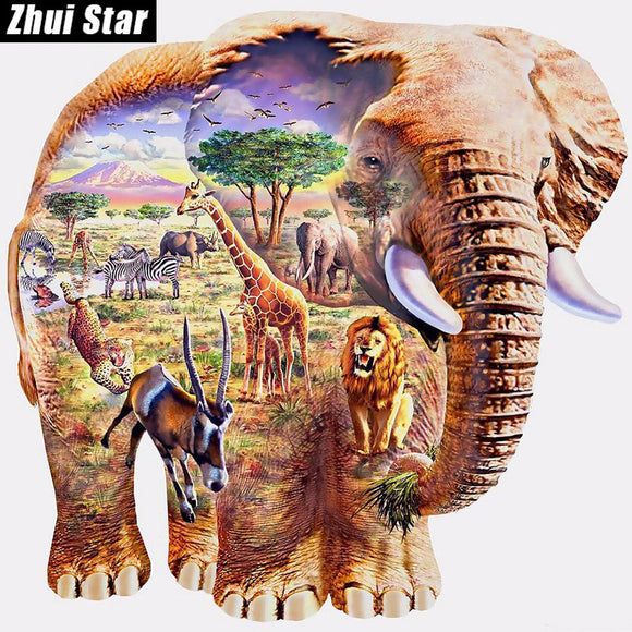 Elephant Zoo Diamond Painting Kit