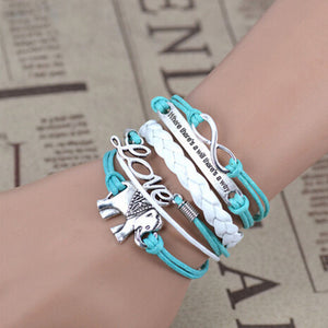 Elephant Multi layer Bracelet  4 Colors