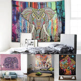 Mandala Elephant Tapestry - Blue and Purple