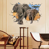 3D Elephant Wall Stickers