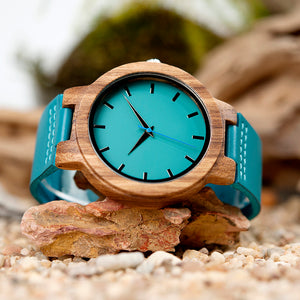 Blue Wooden Watch