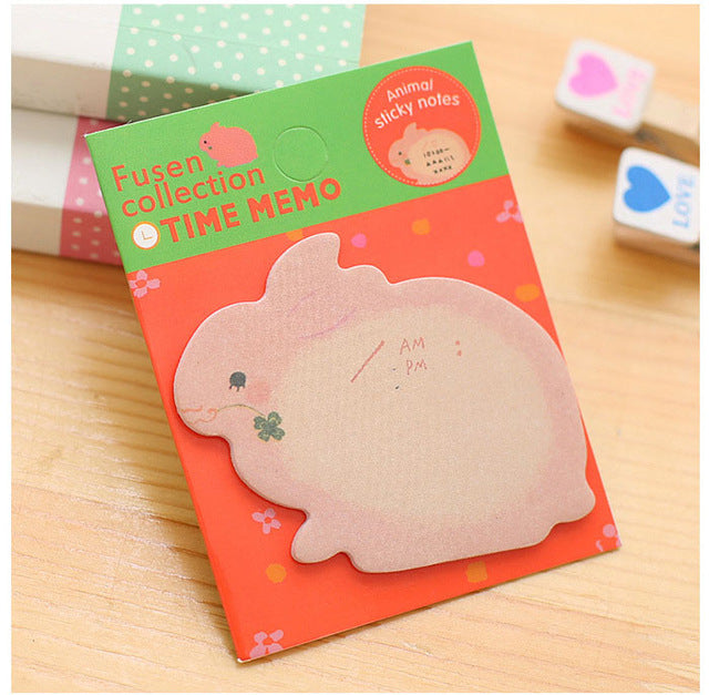 Animal Memo Pad Notes