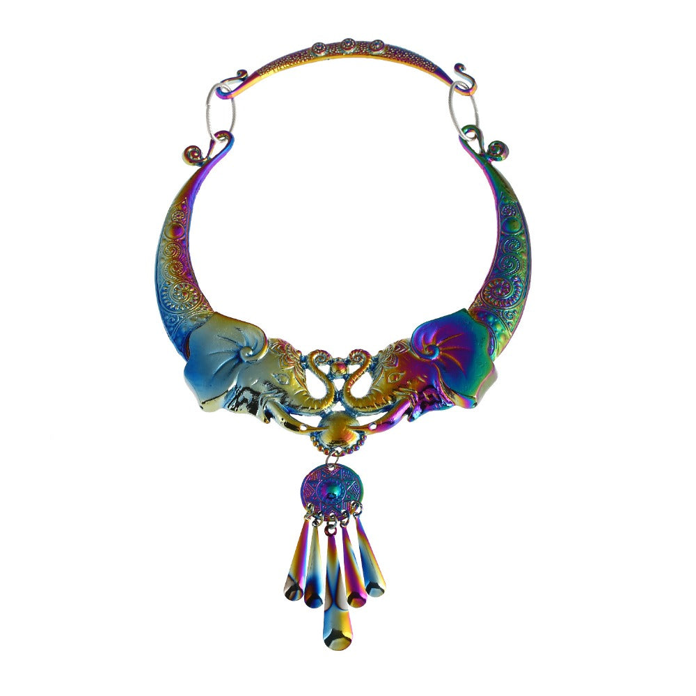 Bohemian Ethnic Elephant Necklace for  Women