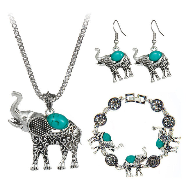 Stone Jewelry  Elephant  Necklace  For Women