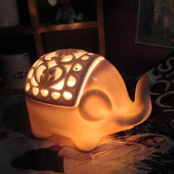Elephant Himalayan Salt Crystal Lamp and Air Purifier