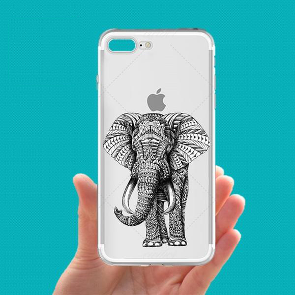 Transparent Elephant Phone Case