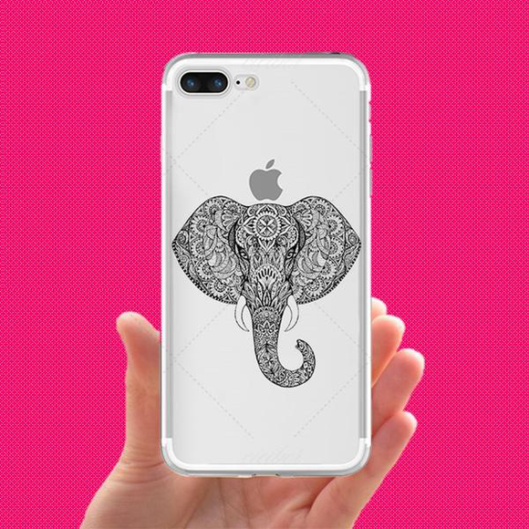 Transparent Elephant Face Phone Case