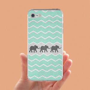 Tribal Elephants Phone Case - Blue