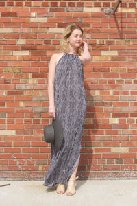 "Mud Pie Miley Maxi Dress - 100% rayon maxi-length dress features racerback with keyhole drawstring closure. Measures approximately 55"" from shoulder to hem on size small."