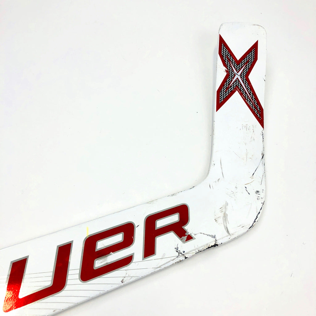 Used Red Bauer 1X Goalie Stick