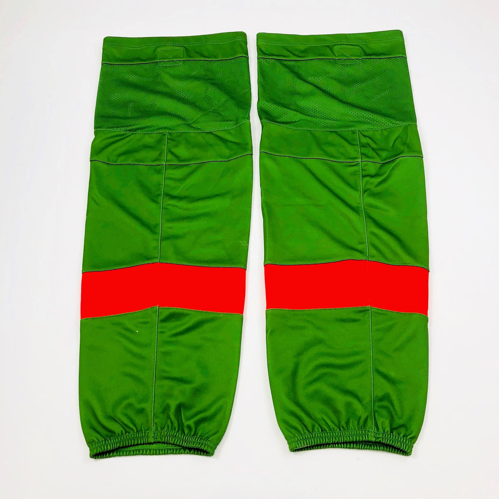 Green with Red Stripe - Pro Stock Socks