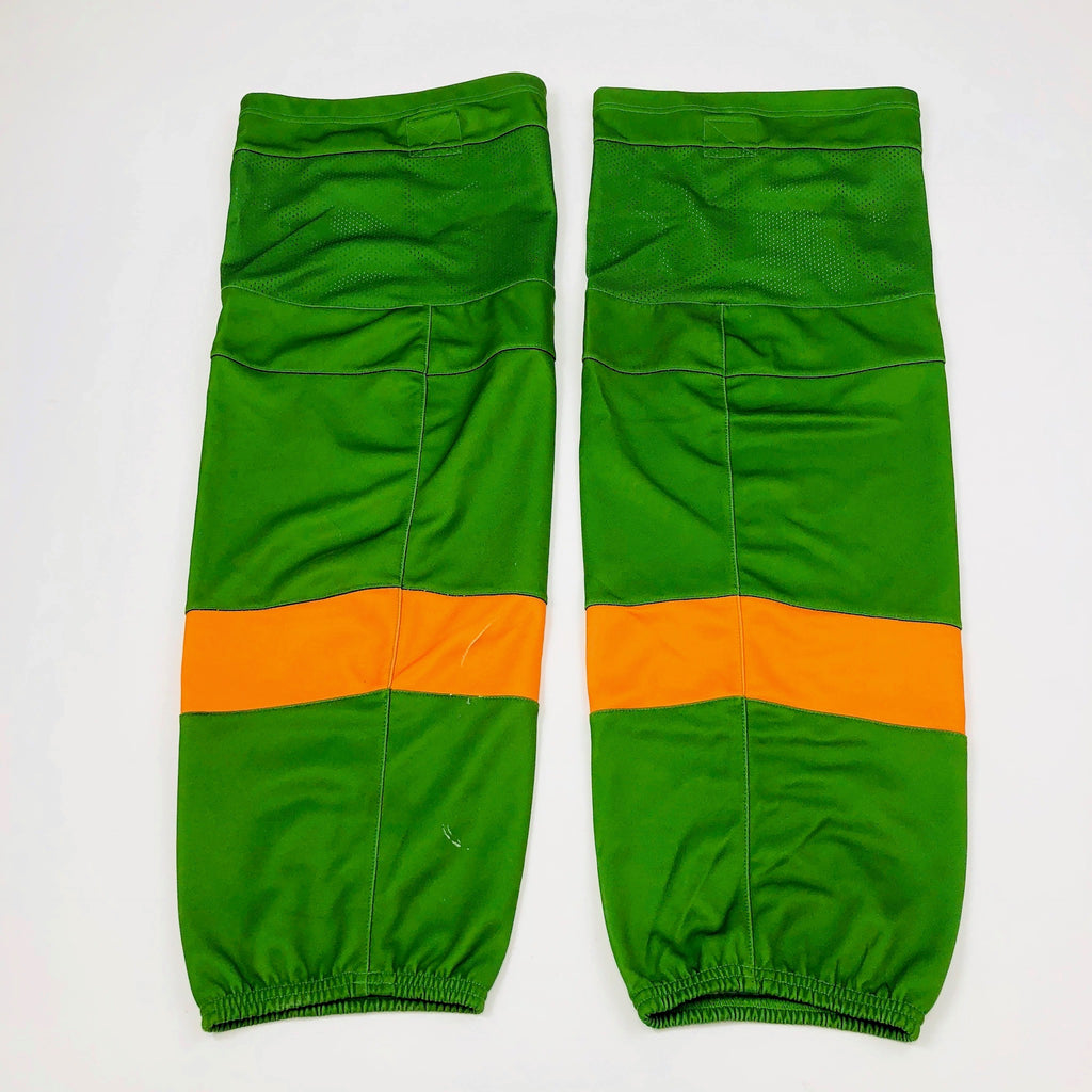 Green with Orange Stripe - Pro Stock Socks