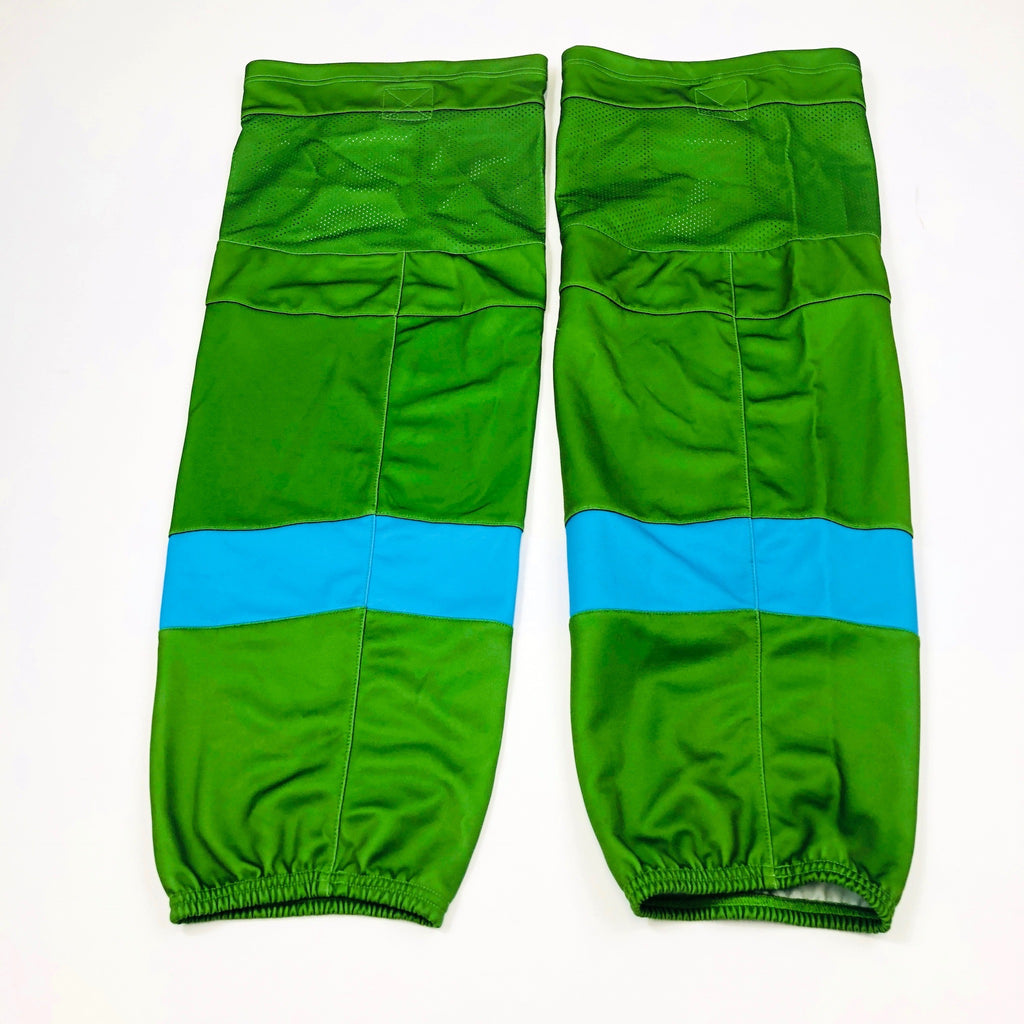 Green with Light Blue Stripe - Pro Stock Socks