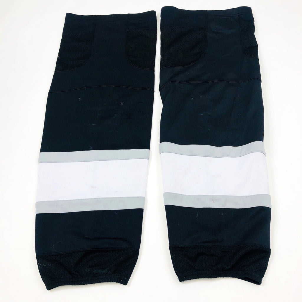Black with Grey/White Stripe - Pro Stock Socks