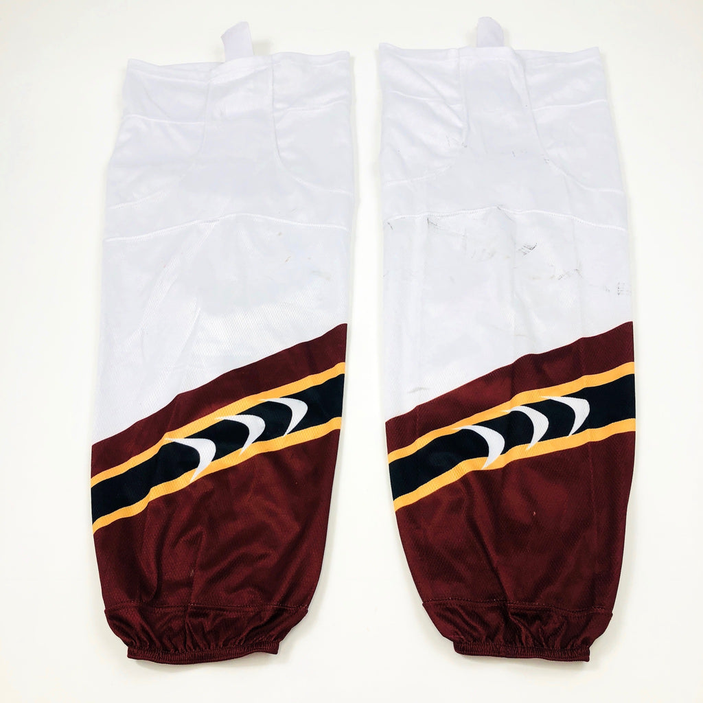 White and Maroon - Pro Stock Socks